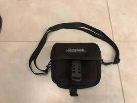 D image camera gopro small carry case with shoulder strap