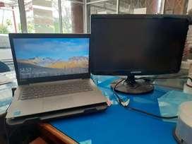 Laptop Lenovo Idepad 120s Bonus Monitor Samsung Syncmaster SA10 19inch