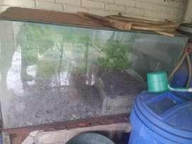 Aquarium P120 L60 T65 dan dudukan besi