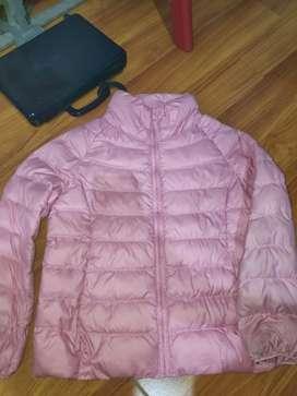 dijual jaket pink perempuan / girls light warm padded parka uniqlo