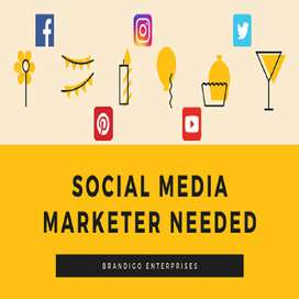 Need Social Media Marketers - Home Based