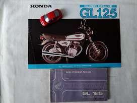 Honda GL125 - Buku Pedoman Pemilik dan Brosur Original