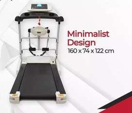 treadmill elektrik arrezo VR-019 electric sepeda statis fitnes