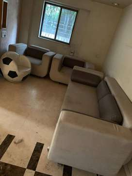 4 Seat Sofa with Center Table