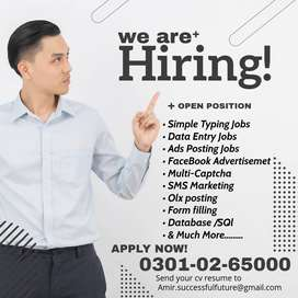 We are looking males & females for Form filling online job