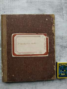 Buku catatan kuno th 1922