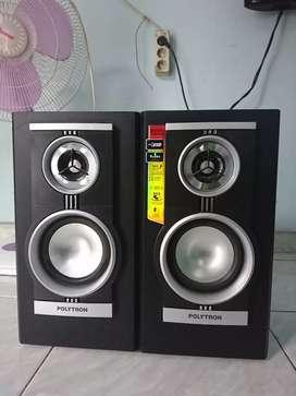Djual speaker aktif polytron USB