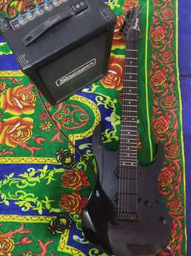 Ibanez Rg7string premium electric guitar along with amp cube24