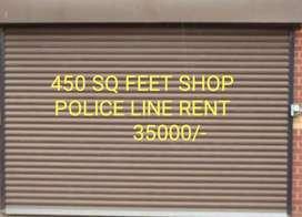 On road shop police line