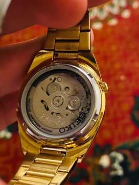 Seiko 5 watch for sale Golden.