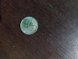 Old coin 25paise 1986