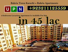 2-bedrooms Luxurious Apartment Available For Sale in Bahria Apartment