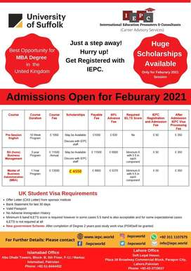 UK Scholarship Study Visa for MBA Degree with IEPC