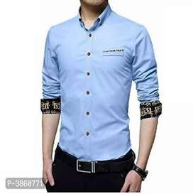 Men's Regular Fit Cotton Solid Casual Shirt(online product)