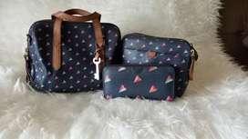 Bundling tas dan dompet fossil ori