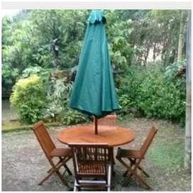 Meja payung taman, pantai, kolam, tempat wisata, kanti,vila,resto