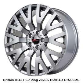 Velg Racing HSR Britain Ring 20 Untuk Mobil New Honda Crv