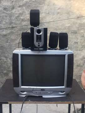 Texla television with home theatre woofers sound system
