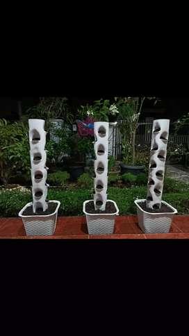 Pot bunga growing tower