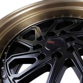 jual velg type HSR Dobo JD215 Ring15x8-9 H8x100-1143 ET30-25 Black Bro