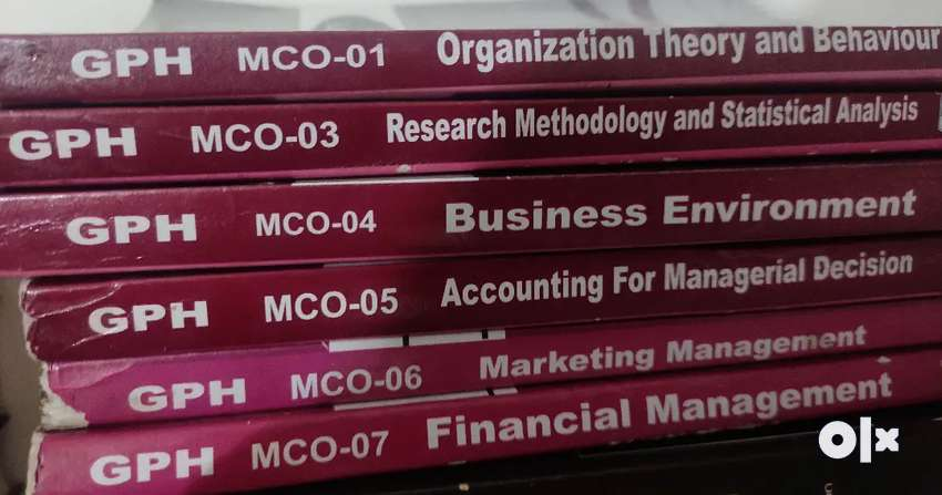 Ignou MCOM Second Year Books 0