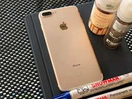 Iphone 7+ 128gb gold garansi tam