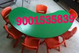 New play school furniture bean table with6chair just rs 3799 half moon