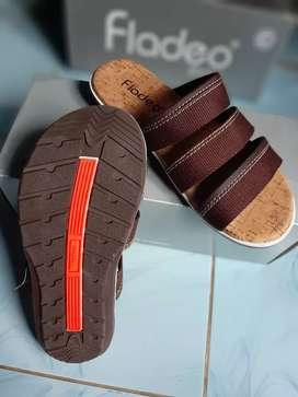 Sandal Fladeo Ori Warna Coklat ( New )