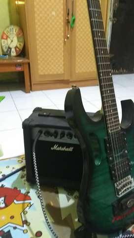 Gitar ibanez, jual cepat BU