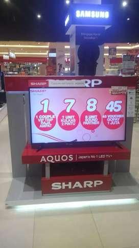 Promo led tv sharp 50 inchi