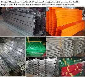 Cable Tray Ladder Perforated Mesh Duct Solid Bottom all sizes quality