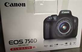 ORIGINAL JAPAN CANON DSLR EOS 750D With 18-55 lens , BRAND NEW LIKE