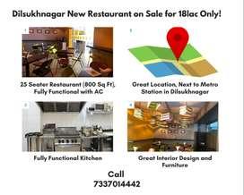 Dilsukhanagar Restaurant at 18L/-
