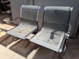 Dijual Kursi Terbuat dari Bahan Plat Besi, dg Design yg Kukuh.