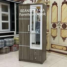 SEANDRY JAYA Furniture Depok/Lemari pakaian minimalis 2 P murah/promo