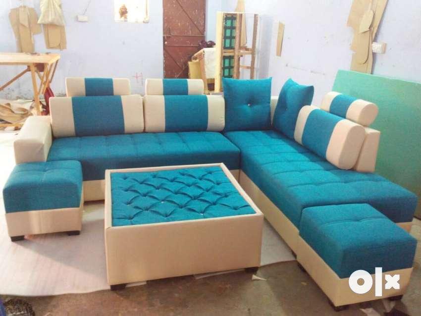 New designer L-shap sofa set full size 0