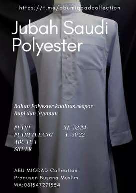 Busana muslim Jubah Saudi Bahan Polyester