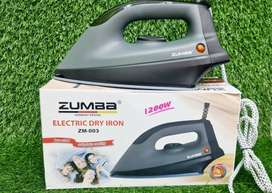 New stock Zumaa Electric (Made in Iran) Dry Iron Non-Stick 1200W