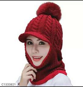 Women's Fuzzy Knit Winter Beanies free home delivery with cod