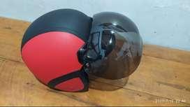 Helm Bogo Warna Merah Hitam Mulus