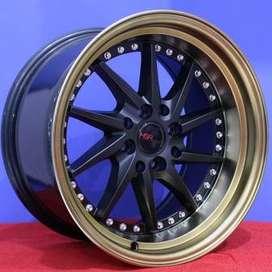 jual velg type hsr wheelTIAKUR JD218 HSR Ring.15 Lebar.8-9 PCD.4X100-4