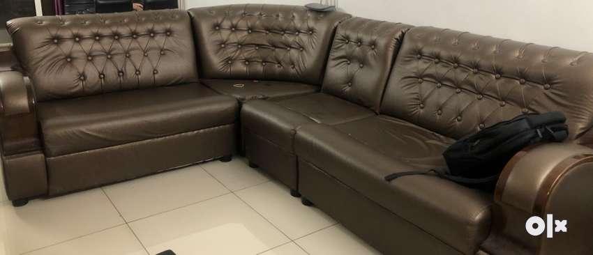 L shape sofa available 0