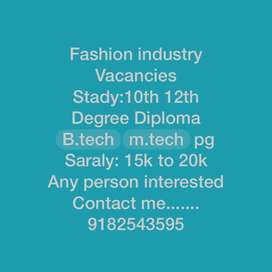 E-commerce online work fashion industry