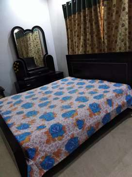 Double bed with Dressing and mattress