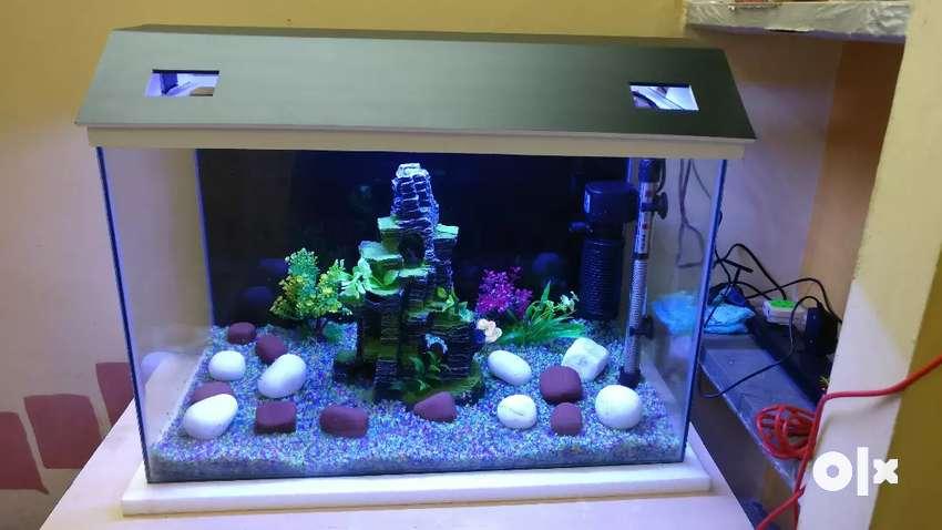 5mm 2*1*1.5 feet glass fish pot 0