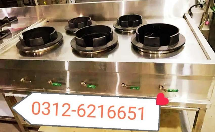 Chinese stove table 5 burners SS non magnet