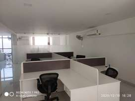 1200 sq ft furnished office space with 15 to 20 work stations for rent