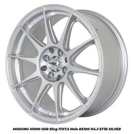 promo velg m,odung hsr ring 17 hole8x100-114,3 warna silver