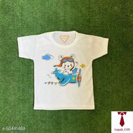 Kaos Oblong Bayi Anak  Print Cute Bear Sunflower -White