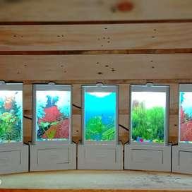 aquarium mini..hiasan ruangan dan lampu tidur